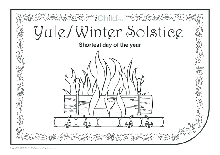 Thumbnail image for the Yule Colouring in Picture activity.