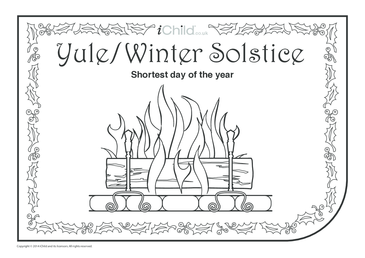 Yule Colouring in Picture