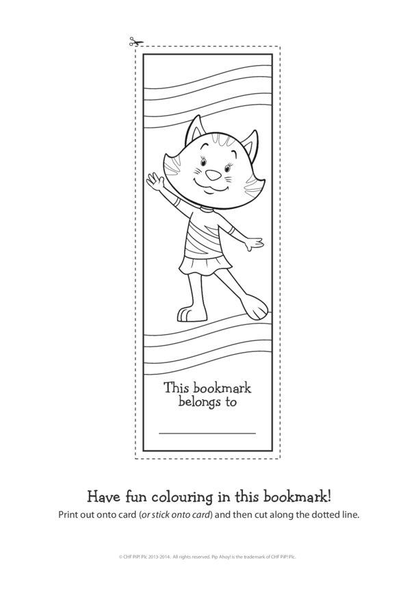 Alba Commonwealth Games Bookmark (Pip Ahoy!)