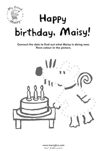 Thumbnail image for the Maisy Party Kit: Birthday Dot to Dot activity.