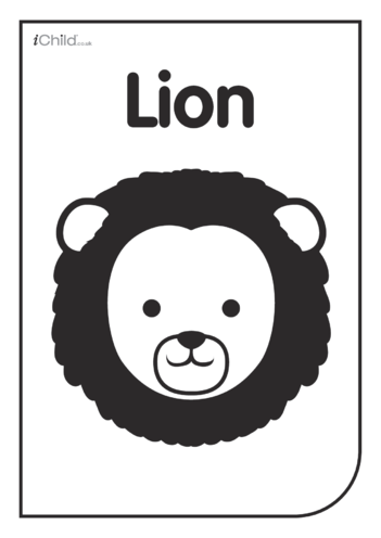 Thumbnail image for the Black & White Poster: Lion Face activity.