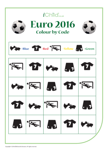 Thumbnail image for the Euro 2016 Colour by Code activity.