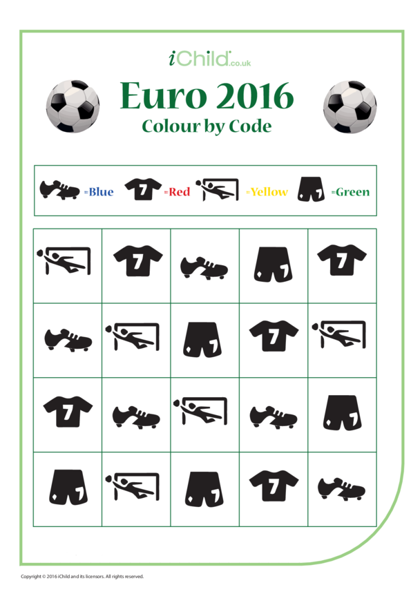 Euro 2016 Colour by Code