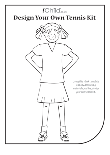 Thumbnail image for the Design your own Tennis Kit- Girl activity.