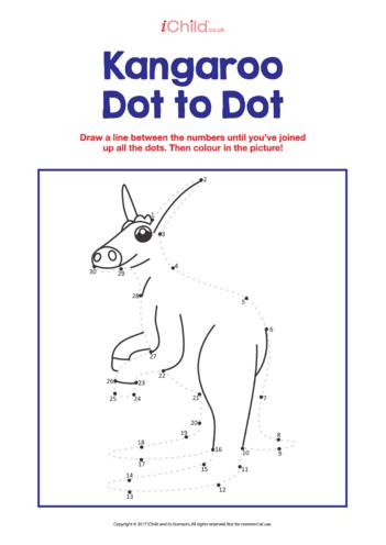 Thumbnail image for the Dot to Dot Kangeroo activity.