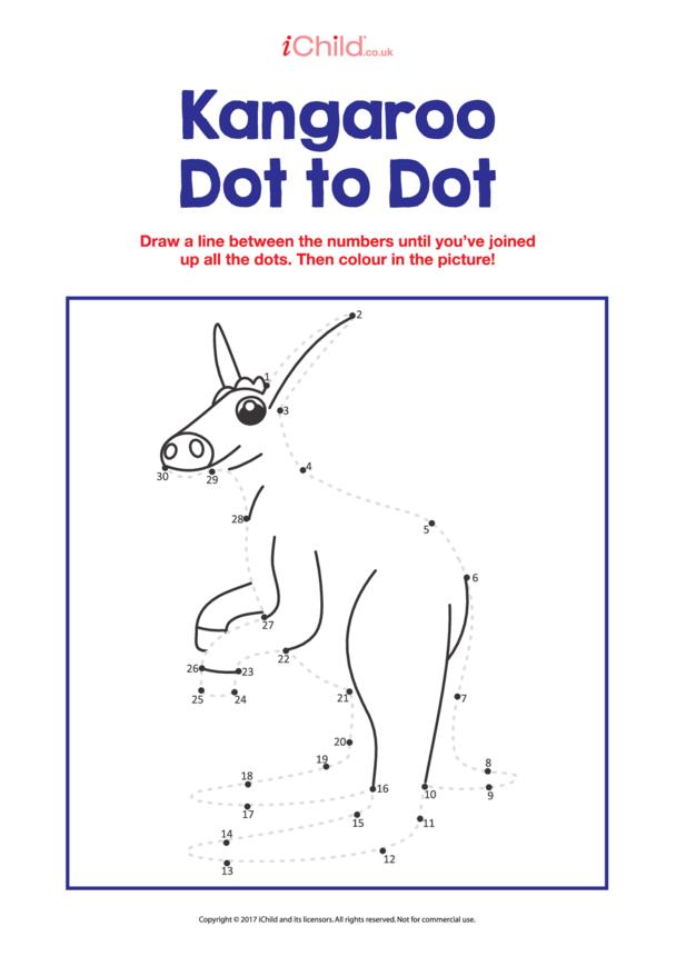 Dot to Dot Kangeroo