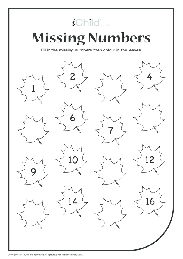 Missing Numbers - Autumn Leaves