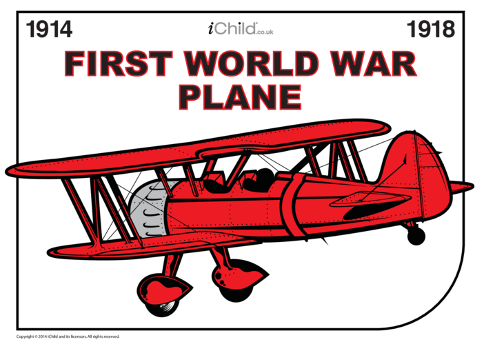 Thumbnail image for the First World War Plane Picture activity.