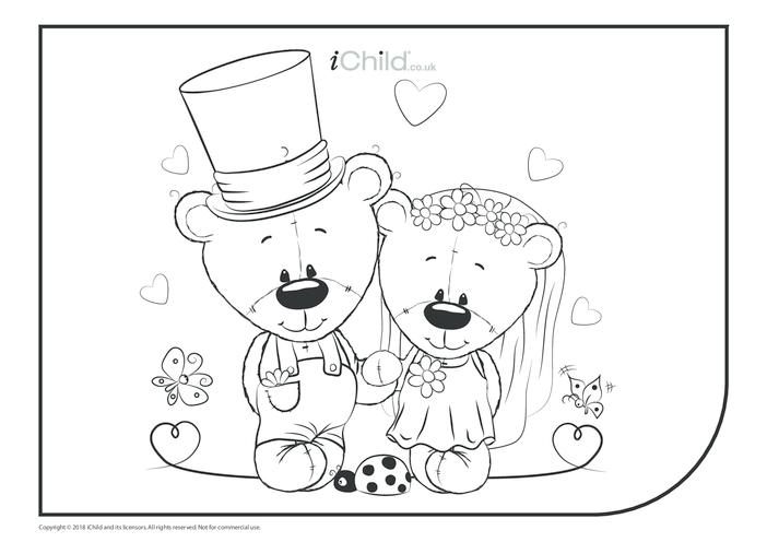 Thumbnail image for the Royal Wedding Colouring in Picture (landscape) activity.