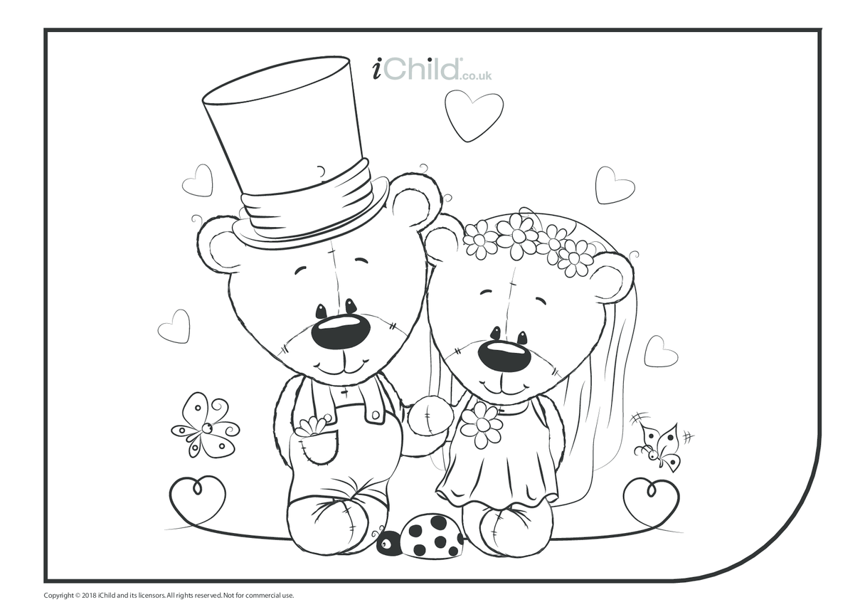 Royal Wedding Colouring in Picture (landscape)