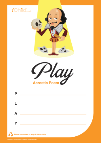 Thumbnail image for the Play Acrostic Poem activity.