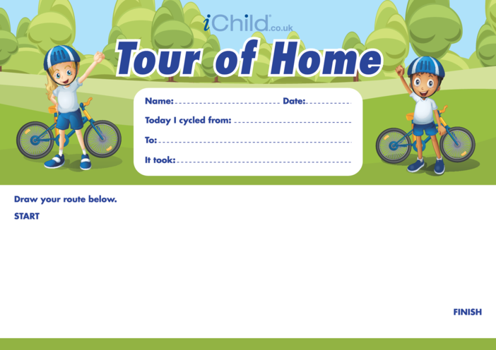 Thumbnail image for the Cycling Tour of Home activity.