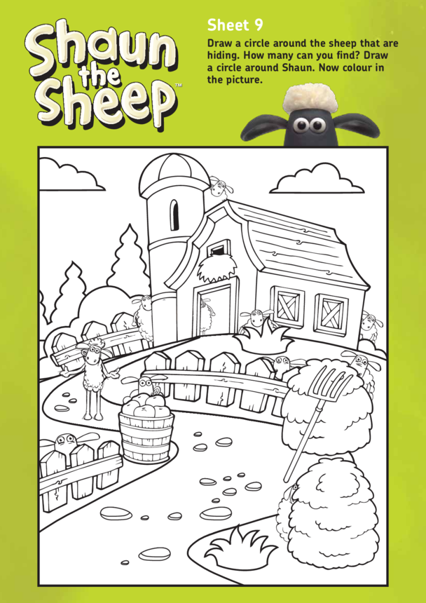 Shaun The Sheep: Counting and Colouring Activity 2 (EYFS/KS1)