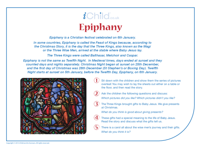 Thumbnail image for the Epiphany Religious Festival Story activity.