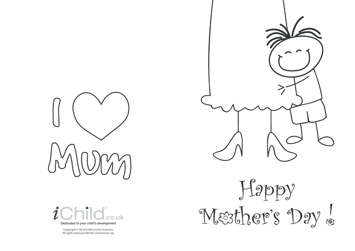 Thumbnail image for the Mother's Day Card - Big Hug (picture 1) activity.