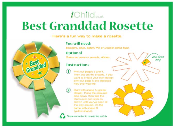 Thumbnail image for the Best Grandad Rosette activity.