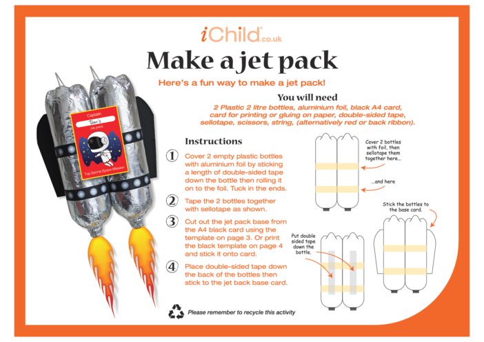Thumbnail image for the Make a Jet Pack Craft activity.