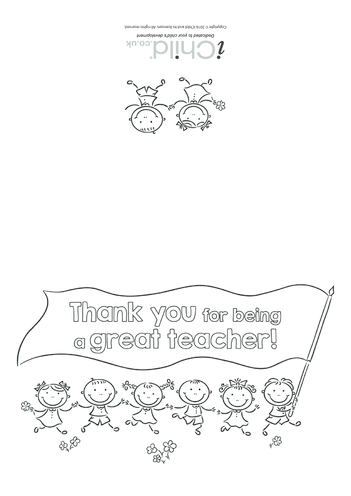 Thumbnail image for the Great Teacher Card activity.