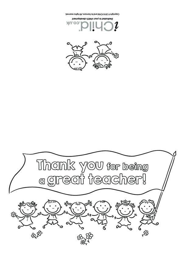 Great Teacher Card