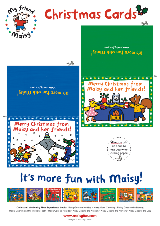 Maisy Christmas Cards (Green & Blue)