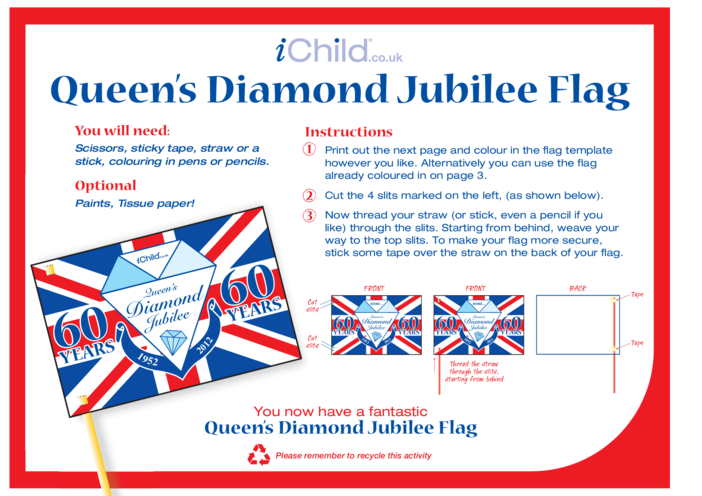 Thumbnail image for the Diamond Jubilee Make a Flag Craft activity.