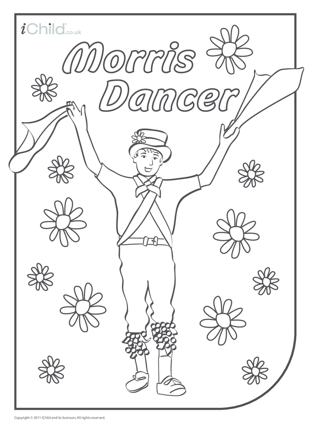 Morris Dancer Colouring in picture