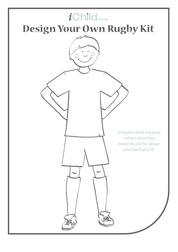Thumbnail image for the Design your own rugby kit for a boy: Rugby World Cup activity.
