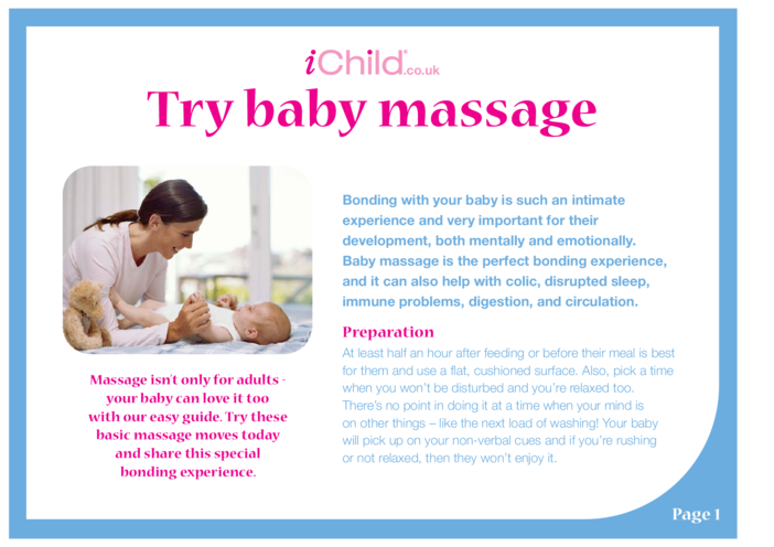 Thumbnail image for the Try Baby Massage activity.