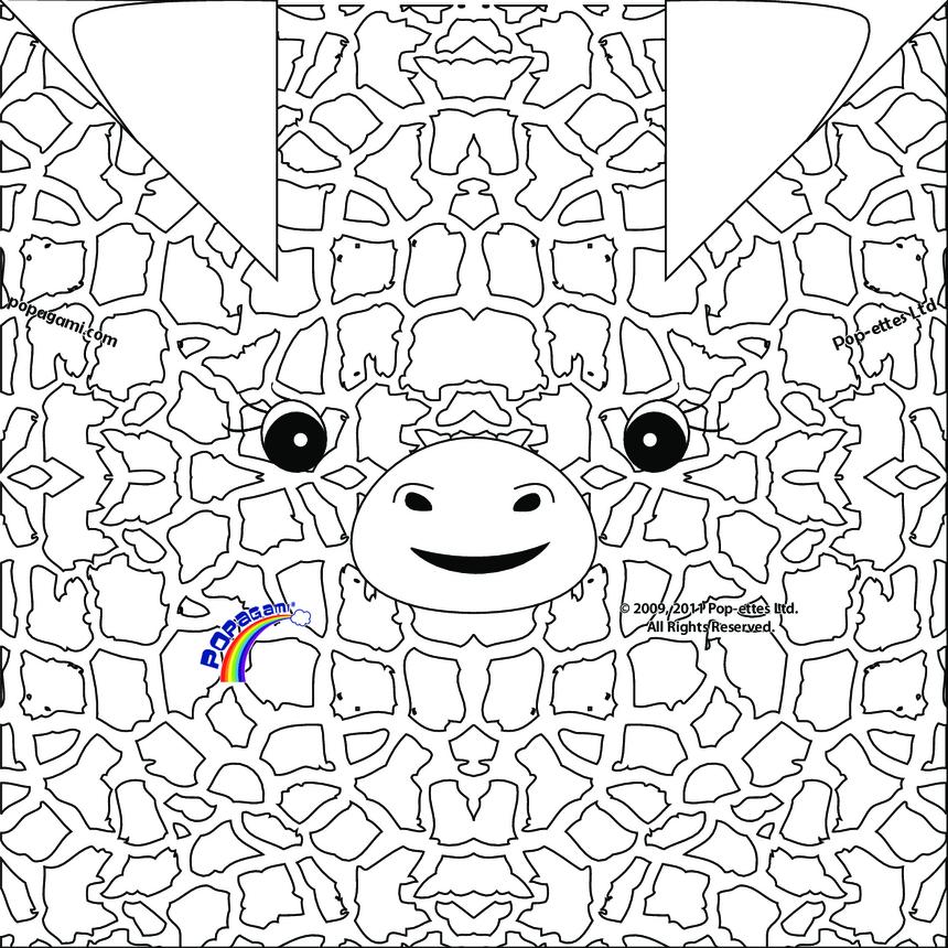 Origami/Popagami Giraffe
