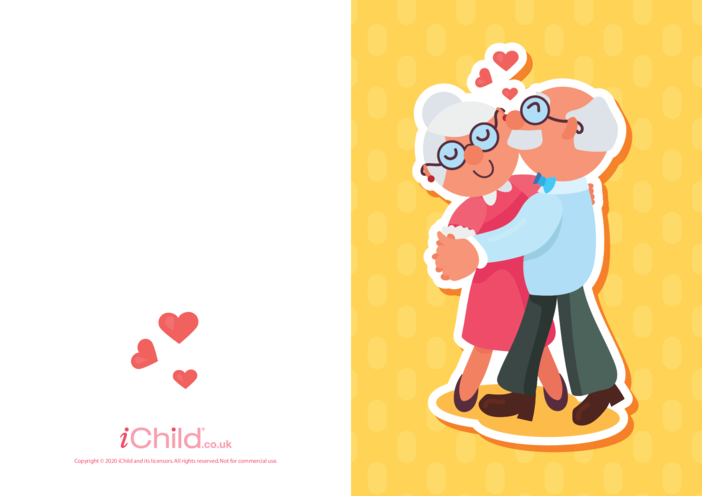 Thumbnail image for the Grandparents Dancing Card activity.