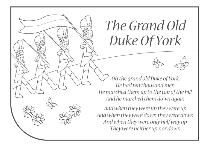 Thumbnail image for the Grand Old Duke of York Lyrics activity.