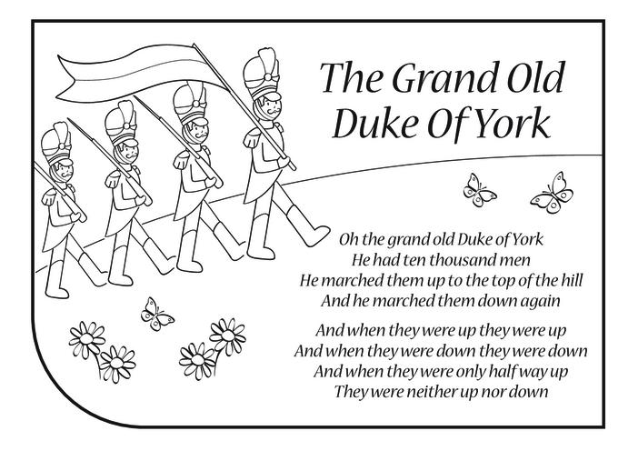Thumbnail image for the Grand Old Duke of York Lyrics activity.