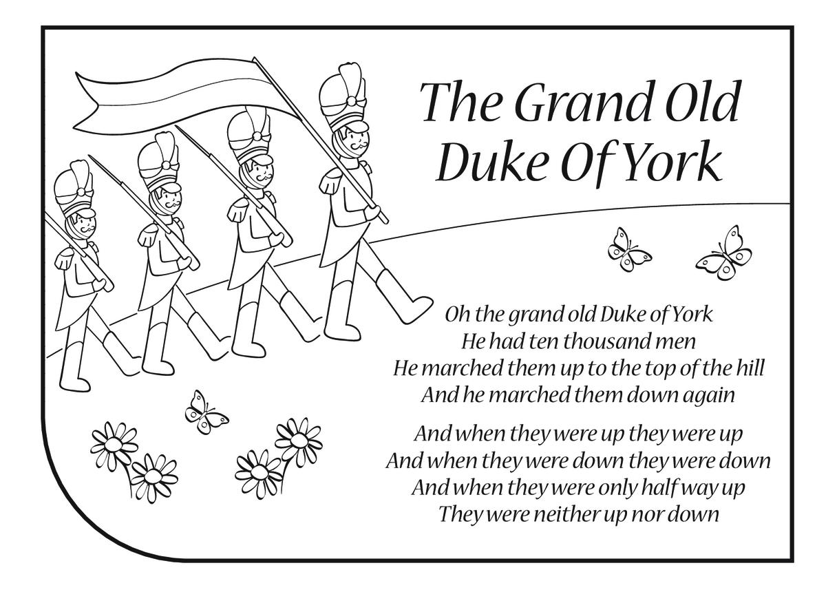 Grand Old Duke of York Lyrics