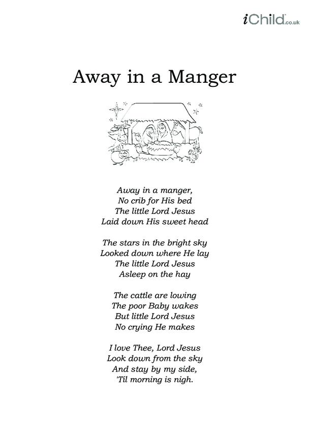 Christmas Carol Lyrics: Away in a Manger