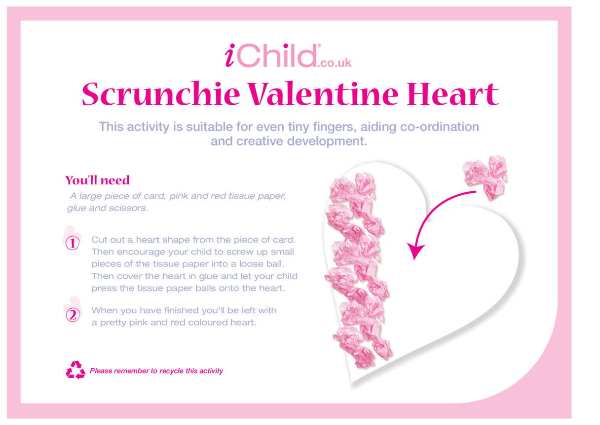 Scrunchie Valentine Heart
