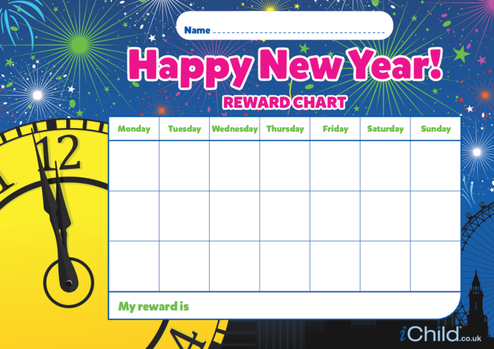 Thumbnail image for the Happy New Year Reward Chart activity.
