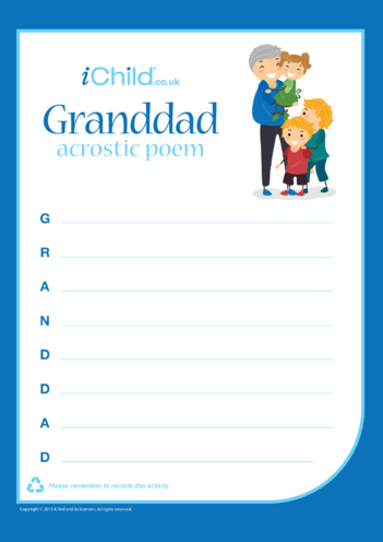 Thumbnail image for the Grandad Acrostic Poem activity.