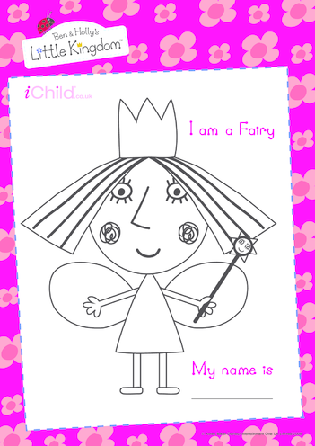 Thumbnail image for the Fairy colouring picture activity.