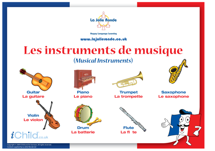 Thumbnail image for the Musical Instruments in French activity.