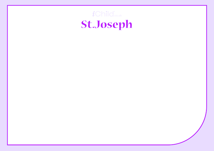 Thumbnail image for the St. Joseph Blank Drawing Template activity.