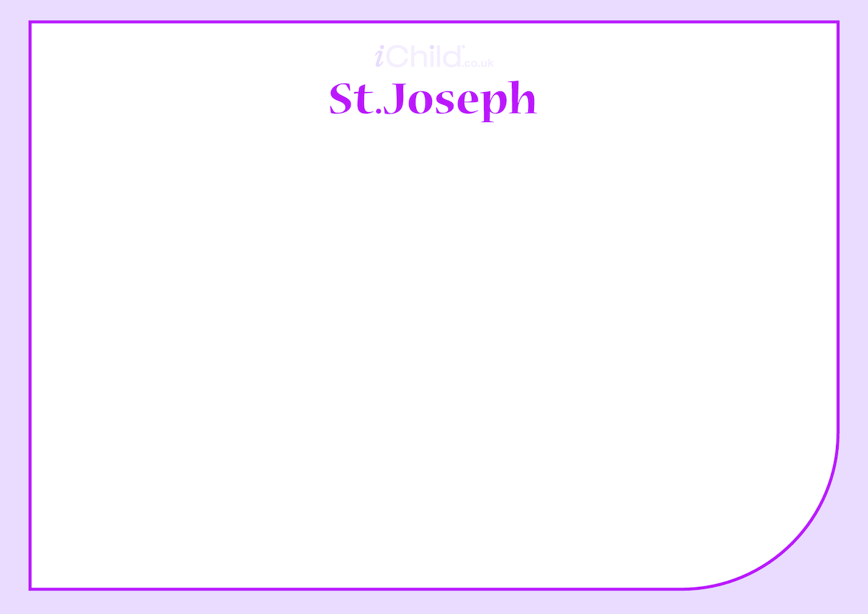 St. Joseph Blank Drawing Template
