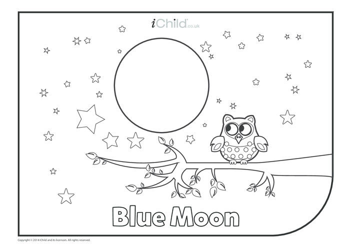Thumbnail image for the Blue Moon Colouring in Picture activity.
