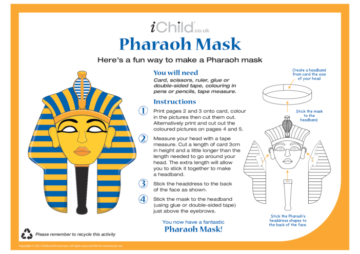Thumbnail image for the Make a Pharaoh Mask activity.