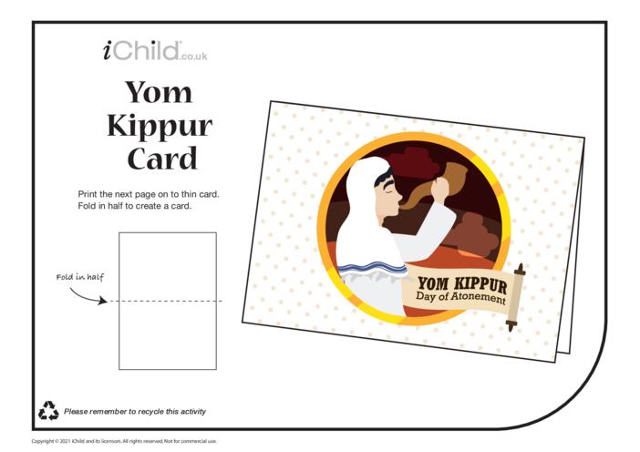 Thumbnail image for the Yom Kippur Card activity.