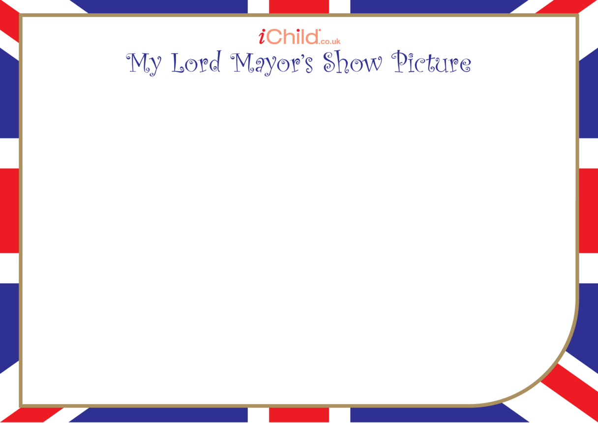 Lord Mayor's Show Blank Drawing Template