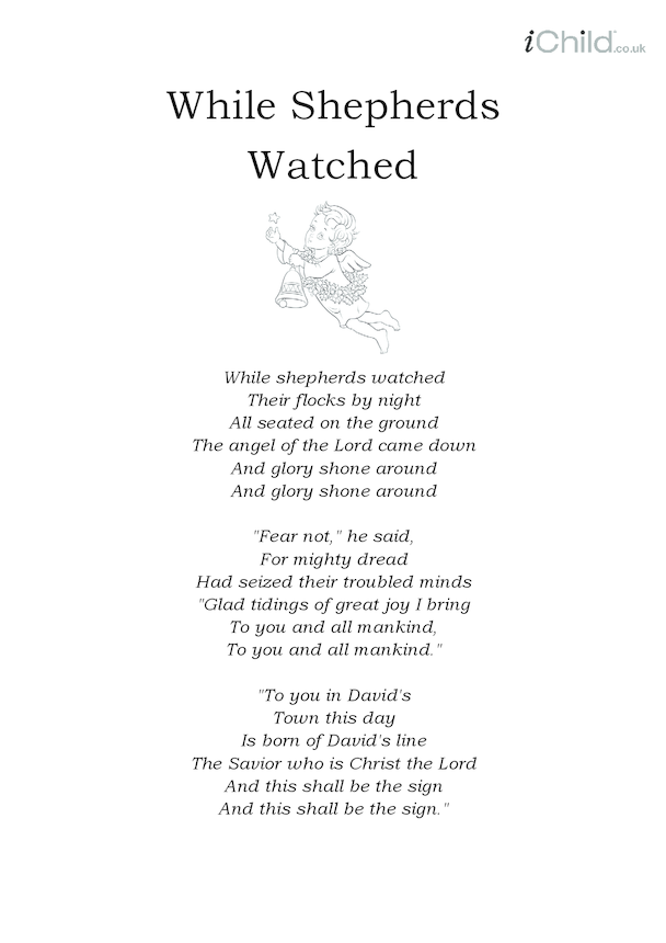 Christmas Carol Lyrics: While Shepherds Watched