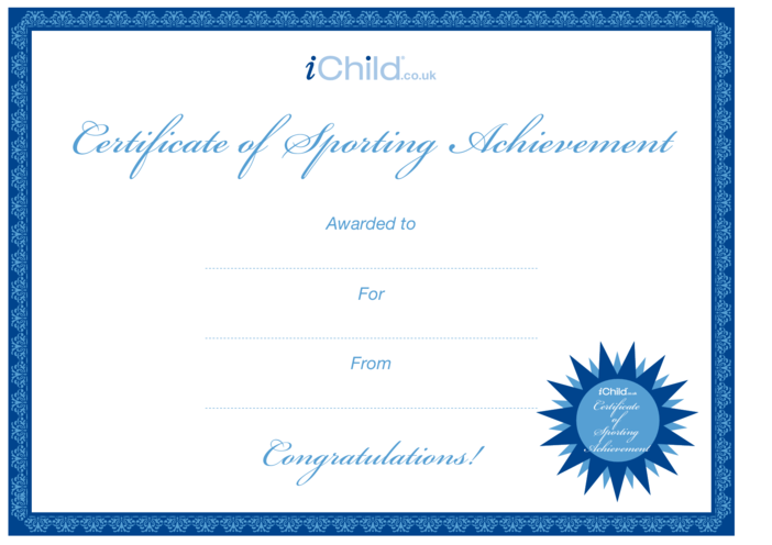 Thumbnail image for the Certificate- Sporting Achievement activity.