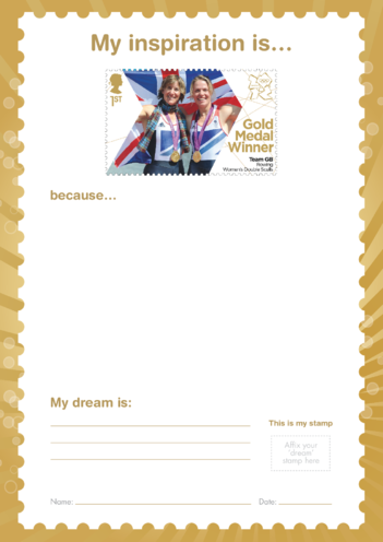Thumbnail image for the My Inspiration Is- Team GB Rowing Women's Double- Gold Medal Winner Stamp activity.