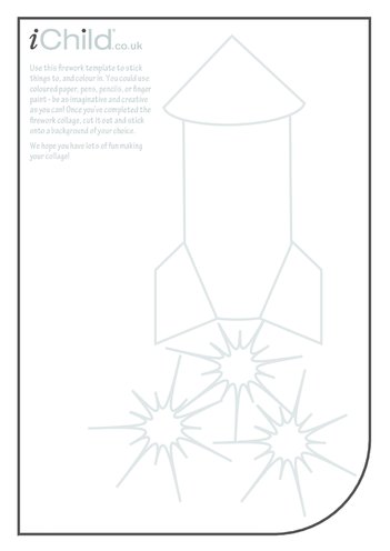 Thumbnail image for the Firework (Rocket) Collage activity.