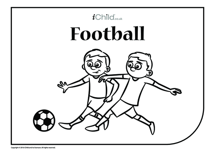 Thumbnail image for the Football Colouring in Picture activity.